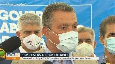 Governo baiano irá monitorar anúncios de festas clandestinas de fim de ano - Número de casos da Covid-19 é crescente na Bahia.