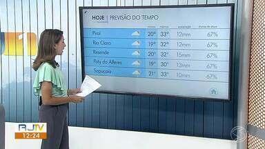 Meteorologia prevê possibilidade de temporal na tarde desta quinta-feira - Veja como ficam os termômetros em algumas cidades.