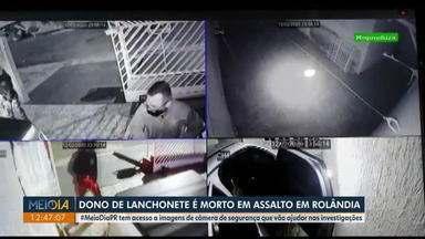 Dono de lanchonete é morto em assalto, em Rolândia - Vítima, que tinha 47 anos, chegou a ser socorrida, mas morreu no hospital.