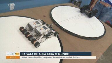 Alunos de escola pública do AP conquistam torneio internacional de robótica - Estudantes da Escola Estadual Esther Virgolino, em Macapá, conquistam o tricampeonato no Torneio Internacional de Robôs, realizado on-line. A equipe já é experiente na competição e ameaça trazer um quarto título para o Amapá.
