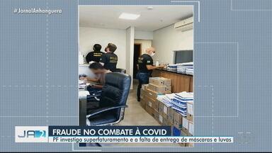 PF investiga superfaturamento no combate a Covid-19, em Goiás - Além disso, polícia investiga falta de entrega de máscaras e luvas.
