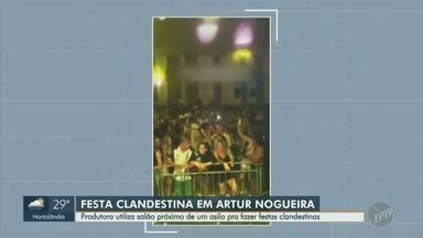 Asilo permite baile funk clandestino com aglomeração de pessoas em Artur Nogueira - Evento ocorreu no último fim de semana e está entre as proibições na fase amarela do novo coronavírus. Idosos são o grupo mais vulnerável ao contágio da Covid-19.