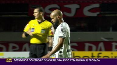 Botafogo é goleado pelo São Paulo em jogo atrasado da 18ª rodada do Brasileirão - Botafogo é goleado pelo São Paulo em jogo atrasado da 18ª rodada do Brasileirão