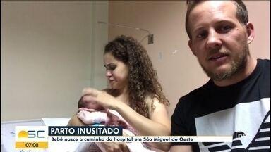 Bebê nasce a caminho do hospital em São Miguel do Oeste - Bebê nasce a caminho do hospital em São Miguel do Oeste
