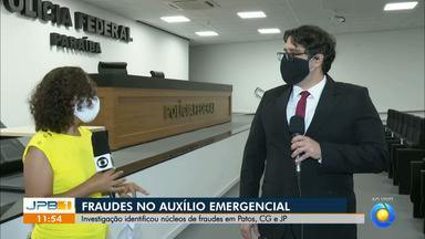 Polícia Federal investiga fraudes no auxílio emergencial em cidades da Paraíba - Investigação identificou núcleos de fraudes em Patos, Campina Grande e João Pessoa.