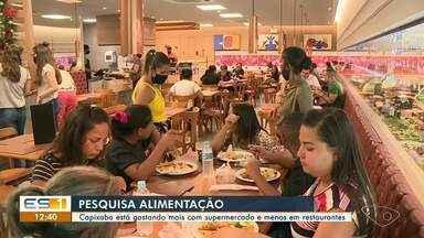 Capixabas estão gastando mais nos supermercados e menos em restaurantes - Assista.