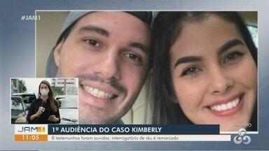Caso Kimberly: Justiça conclui 1ª audiência - Interrogatório do réu foi remarcado para 2021.
