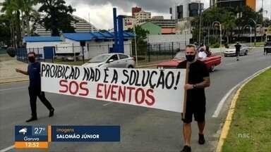 Setor de eventos realiza manifestação em Joinville - Setor de eventos realiza manifestação em Joinville