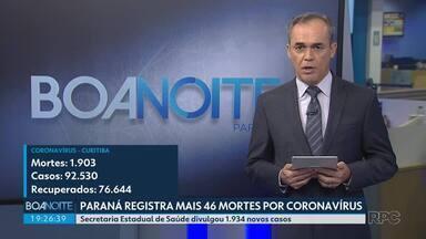 Norte é a única região que registrou queda na média móvel de mortes - Paraná confirmou mais 46 mortes por coronavírus.