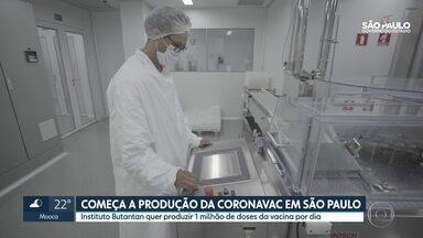 SP2 - Edição de quinta-feira, 10/12/2020 - Instituto Butantan começa a produção da Coronavac em São Paulo. Polícia Federal caça fraudadores do auxílio emergencial.