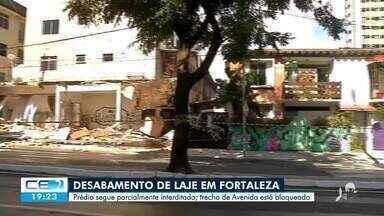 Prédio que desabou em Fortaleza continua interditado - Saiba mais no g1.com.br/ce