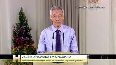 Singapura aprova vacina da Pfizer - Segundo o primeiro-ministro, vacinação deve começar ainda em dezembro.