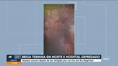 Briga termina em morte e com hospital depredado em Santa Catarina - Briga termina em morte e com hospital depredado em Santa Catarina
