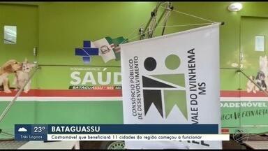 Começa a funcionar o castramóvel que irá beneficiar 11 cidades da região - Bom Dia MS.