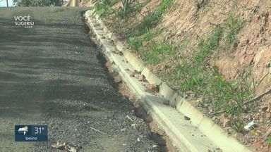 Obra de pavimentação interrompida em São Pedro causa transtornos - Manutenção no Vertentes das Águas teve início, já era para ter sido concluída, mas está paralisada.