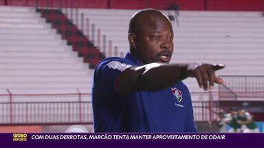 Com duas derrotas, Marcão tenta manter aproveitamento de Odair no Fluminense - Com duas derrotas, Marcão tenta manter aproveitamento de Odair no Fluminense