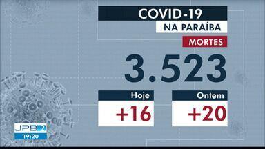 Confira os números atualizados de Covid-19 na Paraíba nesta sexta-feira (18) - Foram mais 16 mortes confirmadas no último boletim.