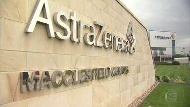 AstraZeneca diz que espera conseguir em janeiro aprovação para uso de vacina no Brasil - É a vacina desenvolvida em parceria com a Universidade de Oxford. O diretor-executivo da farmacêutica anglo-sueca contou que está trabalhando com a Anvisa para a aprovação o mais rapidamente possível.