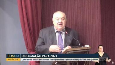 Candidatos eleitos em Curitiba são diplomados e podem tomar posse em 2021 - Diplomação é o ato que encerra oficialmente o processo eleitoral.