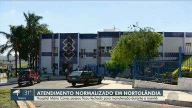 Hospital de Hortolândia volta a atender após interrupção para manutenções - A principal unidade de saúde da cidade, Mário Covas, passou por serviços de reparo na manhã deste sábado e os atendimentos já voltaram ao normal.