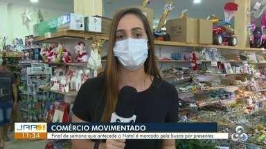 Busca por presentes de natal movimenta comércio em Boa Vista - Final de semana que antecede o Natal é marcado pela busca por presentes