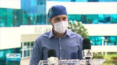 Secretário de Saúde fala cobre a ocupação de leitos de UTI em Rondônia - Secretário Fernando Máximo afirma que ainda há locais com 100 de ocupação.
