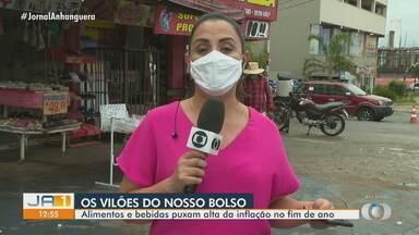 Alimentos e bebidas puxam alta da inflação no fim de ano, em Goiás - Esta é a maior alta dos últimos quatro anos.