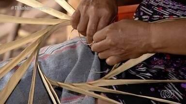 Tocantinense sustenta toda a família produzindo artesanato através da palha de babaçu - Tocantinense sustenta toda a família produzindo artesanato através da palha de babaçu