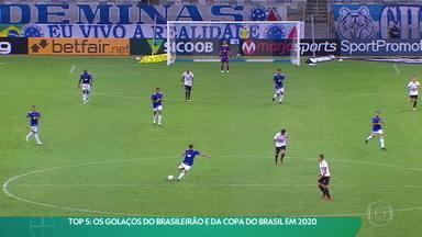 Top 5: Os golaços do Brasileirão e da Copa do Brasil em 2020 - Top 5: Os golaços do Brasileirão e da Copa do Brasil em 2020