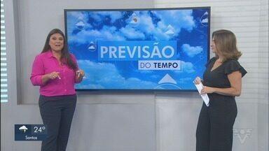 Confira a previsão do tempo para esta quarta-feira na Baixada Santista e Vale do Ribeira - Previsão é que tempo permaneça instável na região.