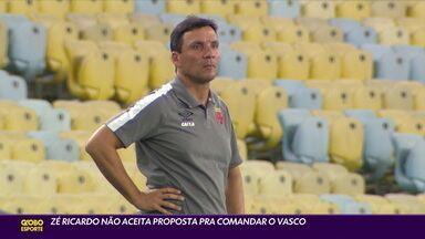 Zé Ricardo recusa proposta para retornar ao Vasco - Zé Ricardo recusa proposta para retornar ao Vasco