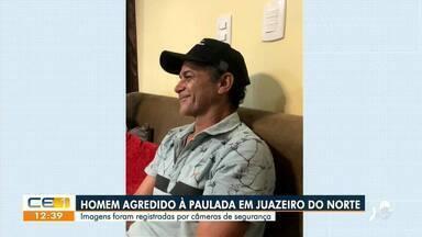 Homem é agredido enquanto dormia na rua em Juazeiro do Norte - Saiba mais em g1.com.br/ce