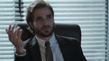 Ruy diz a Amaro que não vai abrir resultado do exame de DNA - Cibele planeja juntar Amaro e Anita em um jantar em sua casa