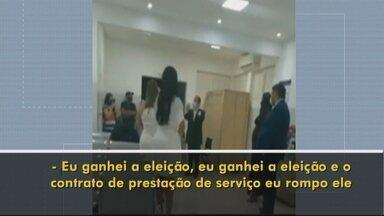 Prefeito tenta expulsar OS que administra hospital em Minaçu - Vídeo que mostra a confusão está circulando em redes sociais.