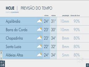Veja as variações das temperaturas no Maranhão - Confira a previsão do tempo na manhã desta segunda-feira (11) em São Luís e no interior do estado.
