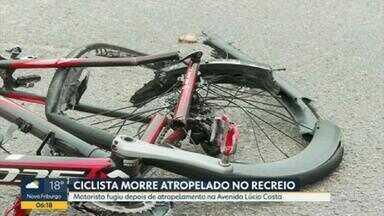 Ciclista morre atropelado no Recreio dos Bandeirantes na manhã desta segunda-feira (11) - O motorista fugiu após o atropelamento na Avenida Lúcio Costa.