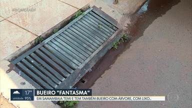 """Em Samambaia tem até bueiro """"fantasma"""" - As bocas de lobo não se conectam com a rede de águas pluviais. Administração regional diz que está fazendo a conexão com as galerias."""