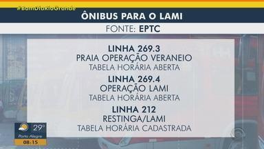 Linhas de ônibus para o Lami começam a operar em Porto Alegre - Assista ao vídeo.