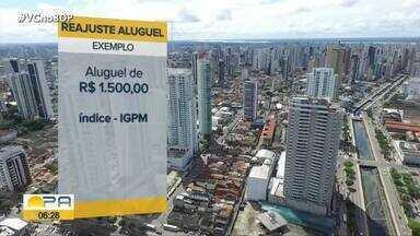 Aluguel tem aumento de 23% no Pará - Índice de reajuste chegou a 23%.