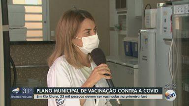 Rio Claro deve vacinar 33 mil pessoas contra Covid-19 na primeira fase - Veja detalhes do Plano Municipal de Imunização.
