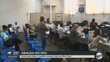 Pazo para pedir isenção do IPTU em Rio Claro começa nesta segunda - Por causa da pandemia, os interessados devem procurar o Atende Fácil.