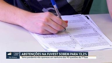 12% dos candidatos não comparecem a primeira prova da Fuvest no vestibular em São Paulo - Alunos já se preparam para a primeira etapa do Enem 2021.