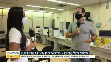 Prazo para justificar ausência no 1º turno das eleições termina nesta semana - Limite é até dia 14 de janeiro.