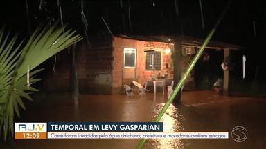 Após forte chuva, cidades da região decretam estado de emergência e calamidade - Temporal no fim de semana foi intenso e causou danos em Três Rios, Sapucaia, Levy Gasparian e Volta Redonda.