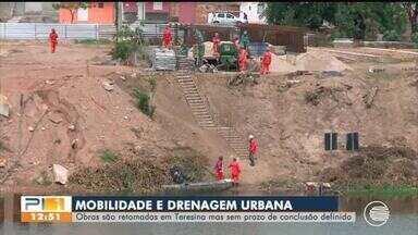 Obras de drenagem e mobilidade urbana são retomadas em Teresina - Obras de drenagem e mobilidade urbana são retomadas em Teresina