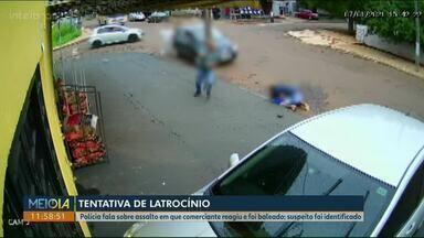 Polícia fala sobre as investigações de tentativa de latrocínio em Cascavel - Proprietário da mercearia reagiu ao assalto e foi baleado.