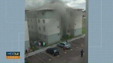 Vovó heroína salva netos em São José dos Pinhais - Ela e mais três crianças estavam no apartamento invadido por fumaça de um incêndio no primeiro andar do prédio.