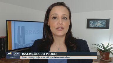 MEC abre inscrições para seleção de bolsistas do Prouni - O prazo se encerra às 23h59 de sexta-feira (15).