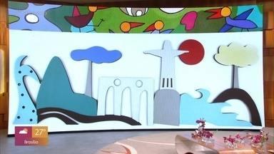 Telão do Encontro: Osmar Beneson - Obras do artista decoram o palco do 'Encontro' nesta semana