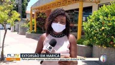 Dentista é vítima de criminoso que se passa por policial para extorquir dinheiro em Maricá - Criminoso pediu dinheiro e disse que se não recebesse a quantia ia matar a dentista, os funcionários da clínica dela e todos os clientes que estivessem lá.